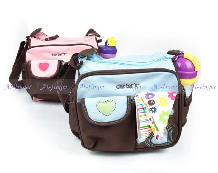 carter small diaper nappy bags,mummy bags changing pad--two colors-bule and pink free shipping(China (Mainland))