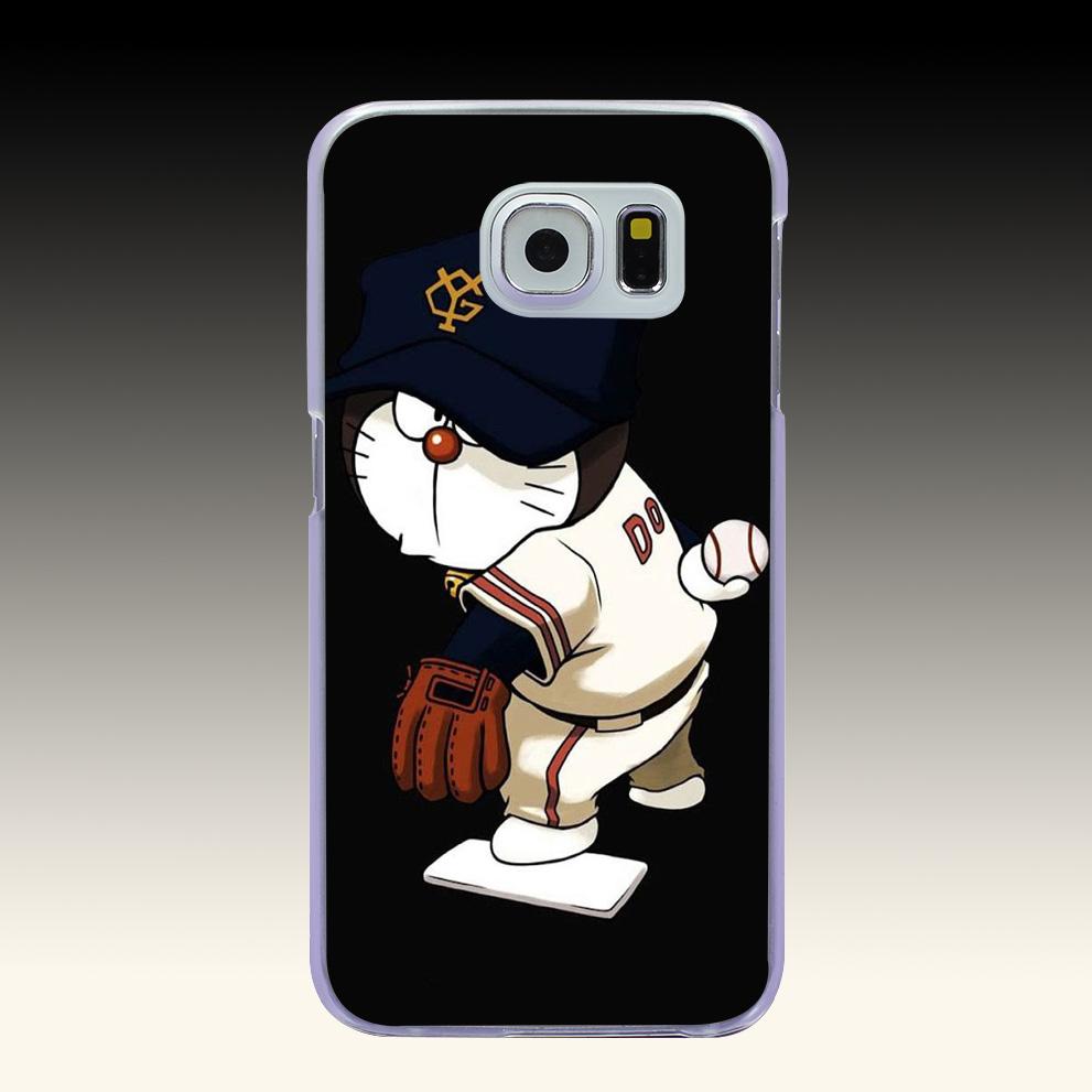 372O Doraemon Baseball Hard Transparent Phone Cases Cover for Galaxy S2 S3 S4 S5 & Mini S6 S7 & Edge Plus(China (Mainland))