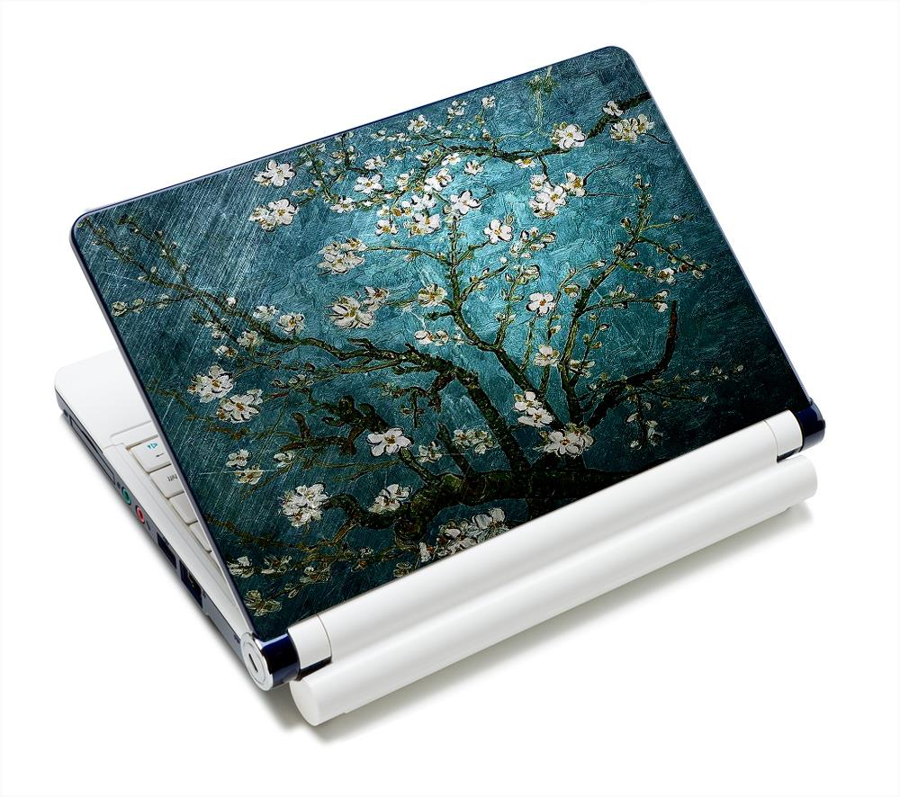 """Van Gogh Blue Flower Art Anti-Slip Laptop Sticker Skin Decal Cover Protector For 11.6"""" -15.4"""" Sony Toshiba HP Dell Acer Thinkpad(China (Mainland))"""
