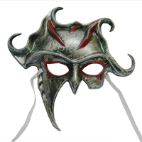Unique Silver/Gold Color Plastic Titan Cosplay Masks Half Face Mask Scary Masks Masquerade Halloween Party Mask With Ribbon