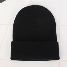 2019 sombreros de invierno para mujer nueva gorros de punto sólido sombrero lindo niñas otoño mujer Beanie gorras caliente sombrero ocasionales de las señoras tapa(China)