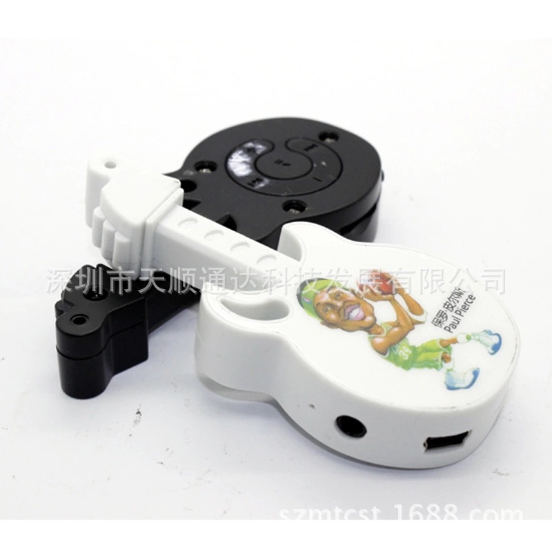 Wholesale Quality Guitar Mini MP3 Music Player with TF Card Slot for leisure (no accessories)(China (Mainland))