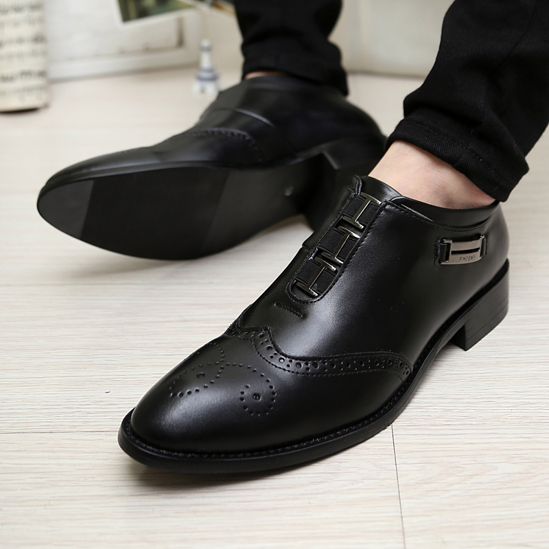 hair stylist pointed shoes breathable casual Korean wedding men's shoes. - House Mall store