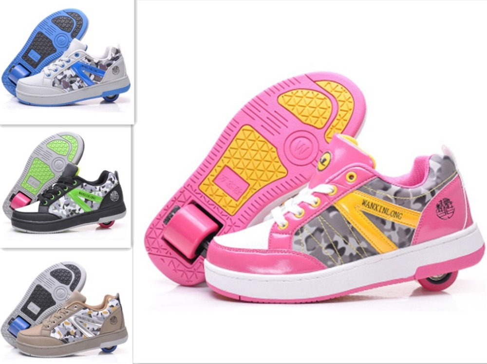 one wheel PU Children Flying Shoes Boys girls child sports casual Roller Shoe fashion Kids Sneakers Size 30-41