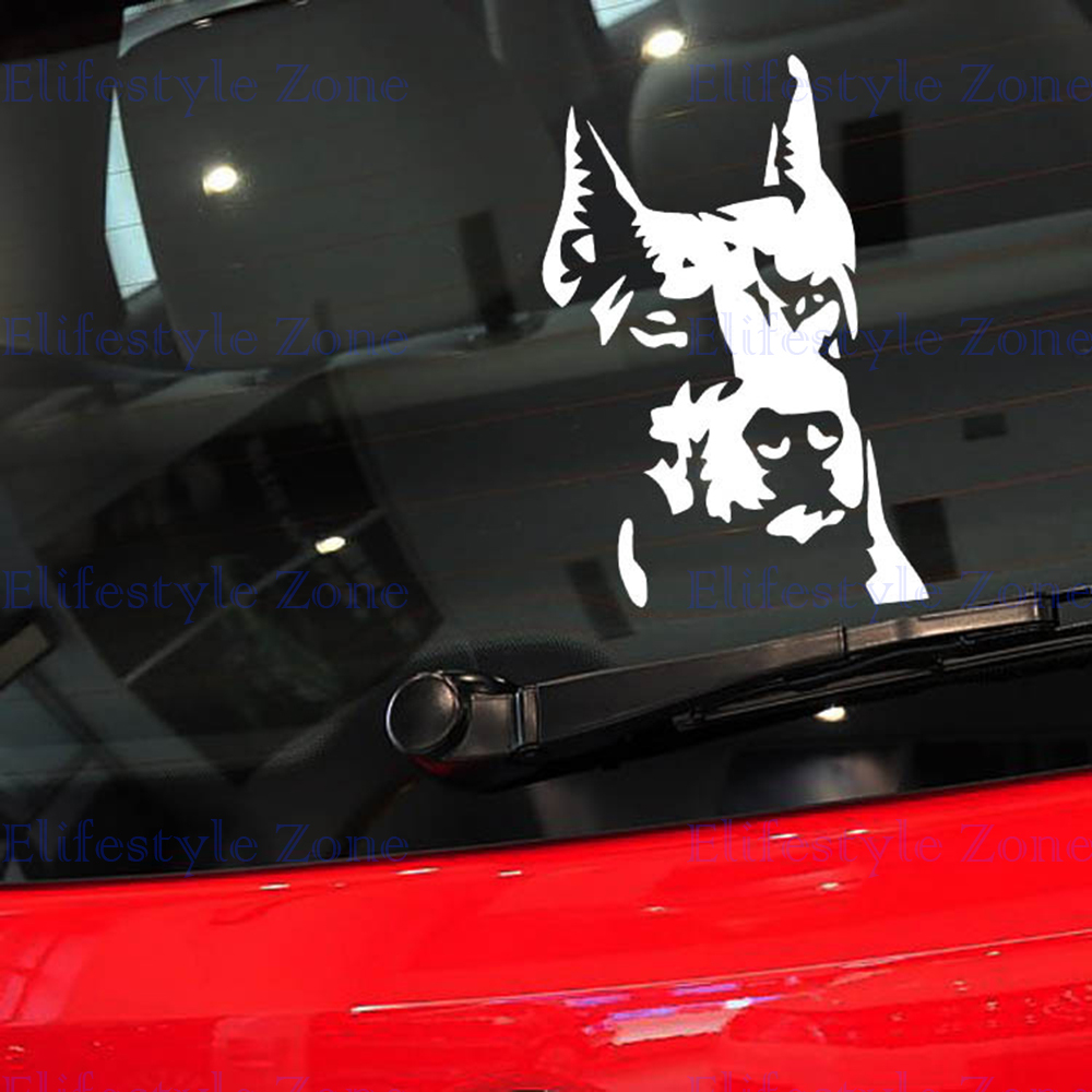 Newest Design Car Styling Funny Wild Hound Dog Decal Decoration Accessories for Tesla Volkswagen Renault Opel Lada(China (Mainland))