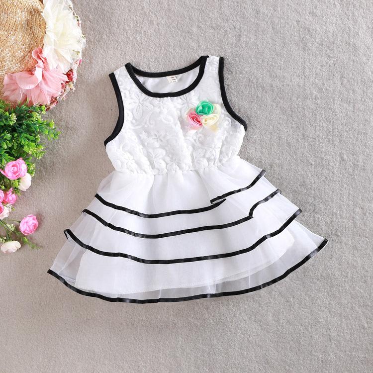 Здесь можно купить  3 color Girls baby Summer cake vest dress Princess grace tutu dresses wholesale  Детские товары