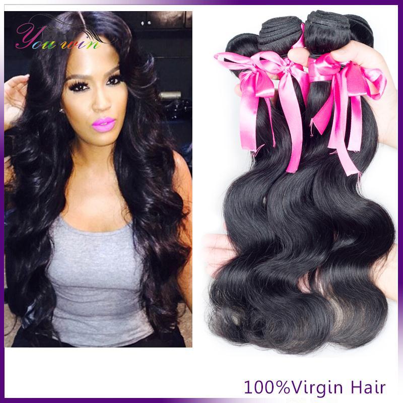 Brazilian Virgin Hair Body Wave 3pcs Queen Hair Products 100% Unprocessed Virgin Human Hair Weave Brazilian Body Wave(China (Mainland))