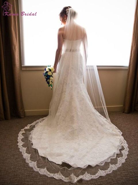Романтический ресниц края шнурка свадебная часовня , фату дешевые свадебные аксессуары ...