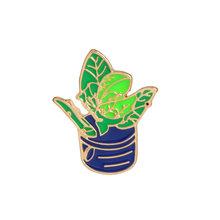 Девочка с зонтиком в горшке растение эмаль нагрудный знак брошь рубашка с пряжкой значок мода мультфильм ювелирные изделия подарок для дев...(China)