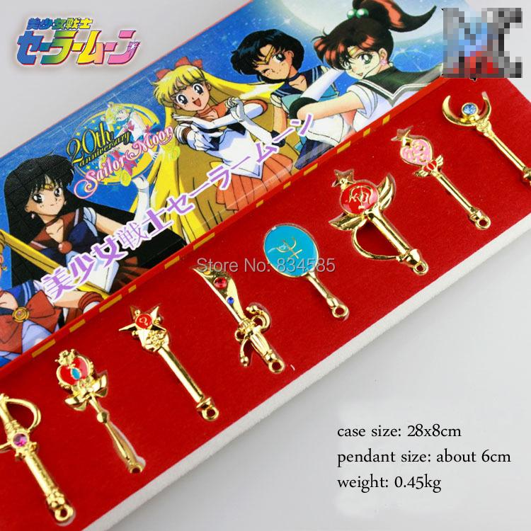 Japanese Anime Sailor moon's pendants kit silver/golden color chain! - CCPRO store