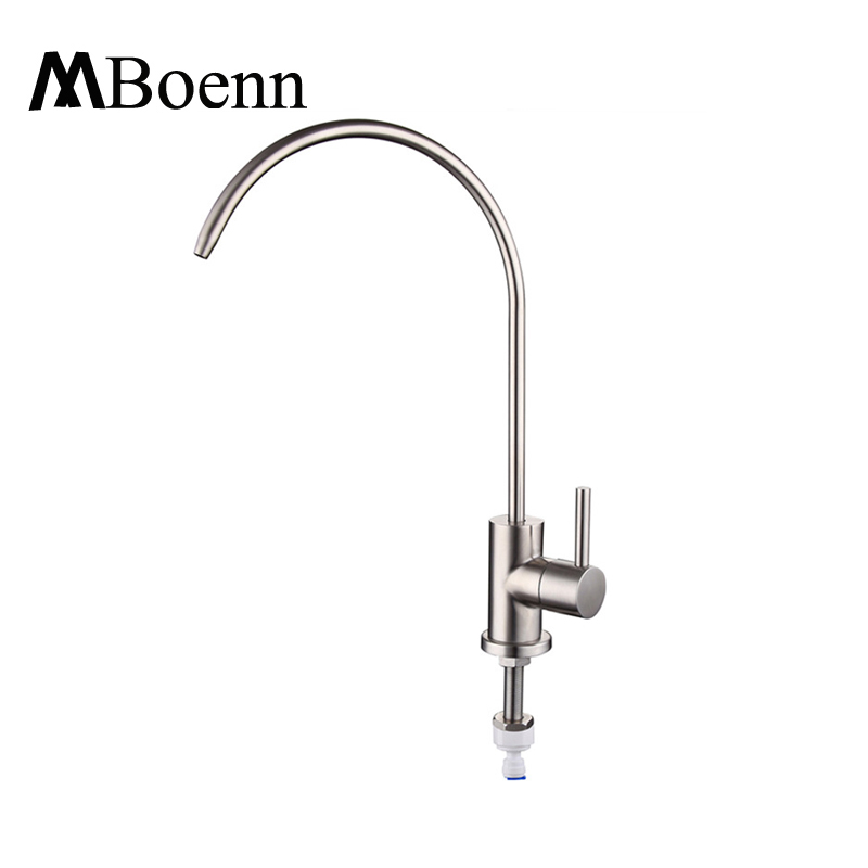 SS304 Stainless Steel Water Faucet Brushed Kitchen Faucets Straight Drink Water Mixer Tap Pots Sink Faucets(China (Mainland))