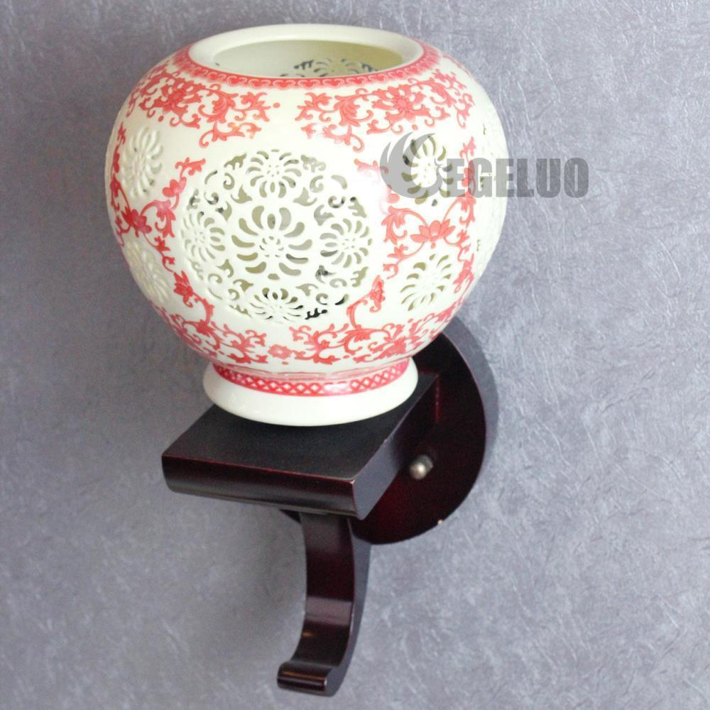 Chinese Style LED Wall Lamp Ceramic Lamp Wall Lights Ordovician Chinese Style Pottery Wall ...
