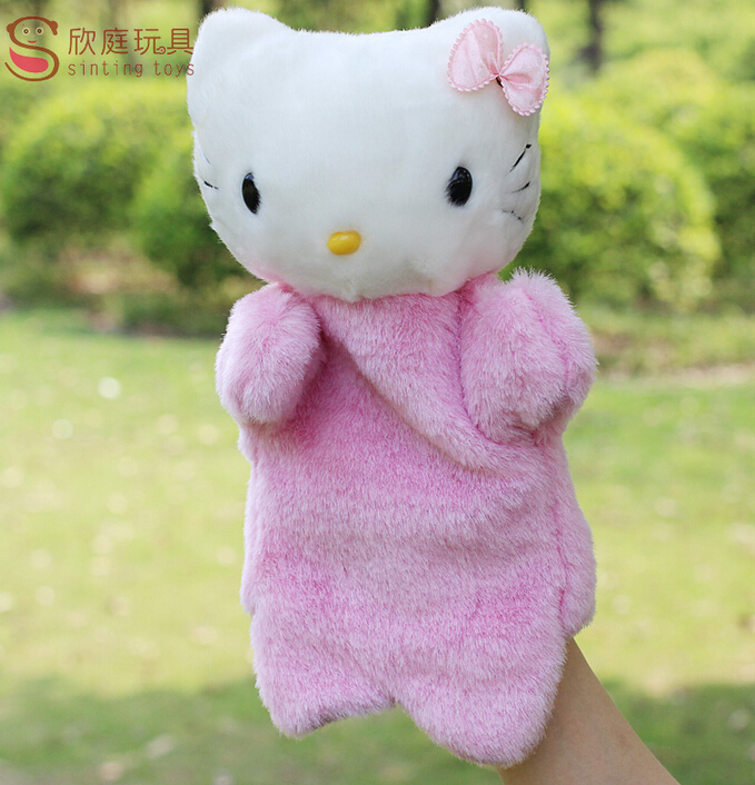 Pink lovely kt cat puppet toy doll Large even a finger<br><br>Aliexpress