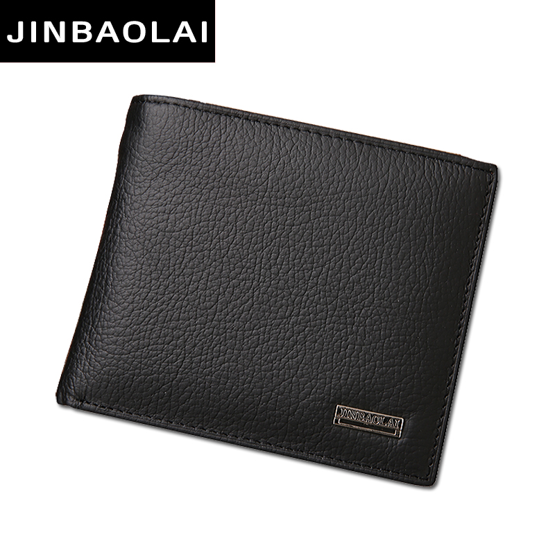 Luxury 100% Genuine Leather Wallet Fashion Short Bifold Men Wallet Casual Soild Men Wallets With Coin Pocket Purse Male Wallet(China (Mainland))