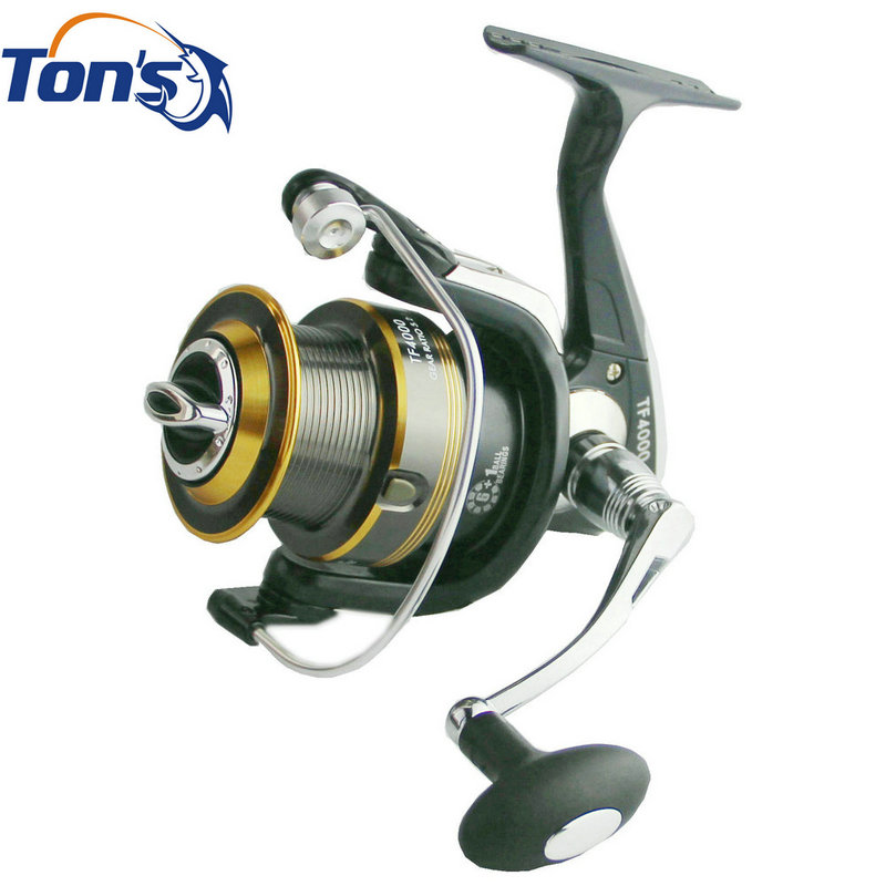 Small Sulf Casting Fishing Reel TF4000 Spinning Reel 6+1BB Aluminum Long Casting Spool(China (Mainland))