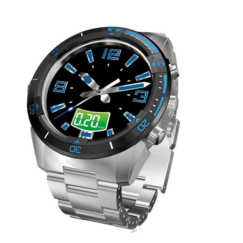 Ультра-дешевый диск поездки алкоголь детектор алкоголь тестер стали кварцевые часы мужской