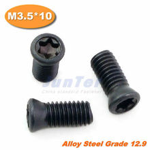 100pcs/lot M3.5*10 Grade12.9 Alloy Steel Torx Screw for Replaces Carbide Insert CNC Lathe Tool