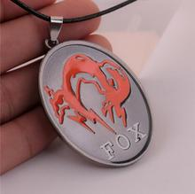 Hot New Metal Gear Solid 5 The Phantom Pain FOX Game Cosplay Logo Mark Alloy Necklaces Japan Animation Small Pendant Wholesale