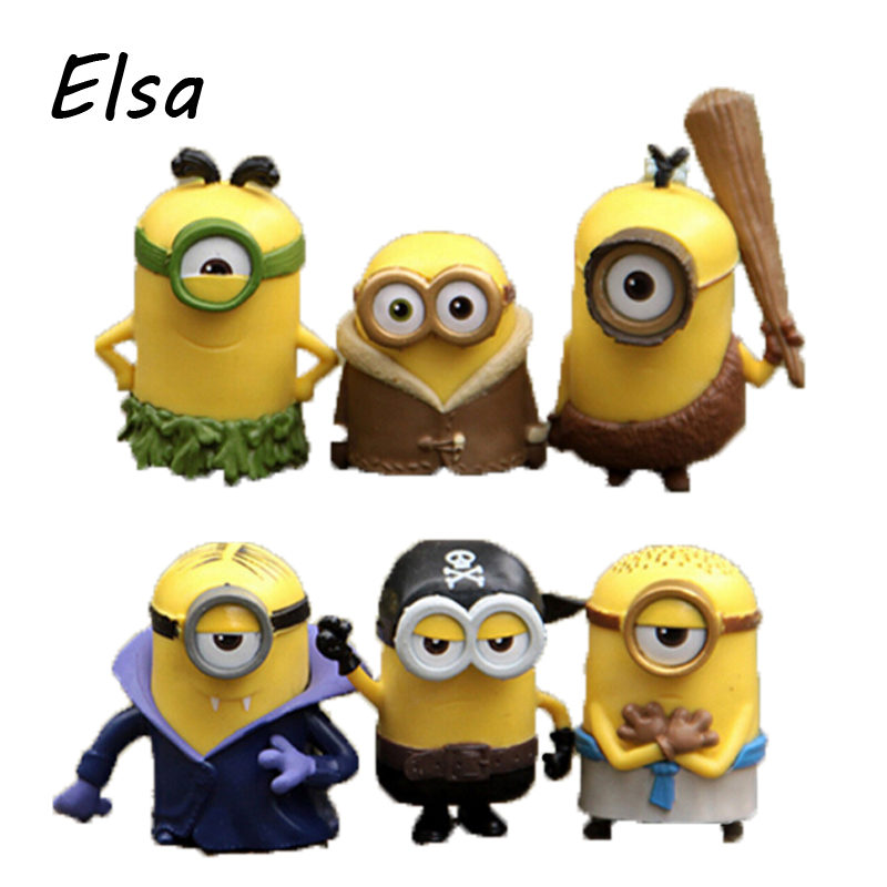2016 New Minions Cute Cosplay Vampire Pirate Primitive 6cm Action font b Figures b font WJ093