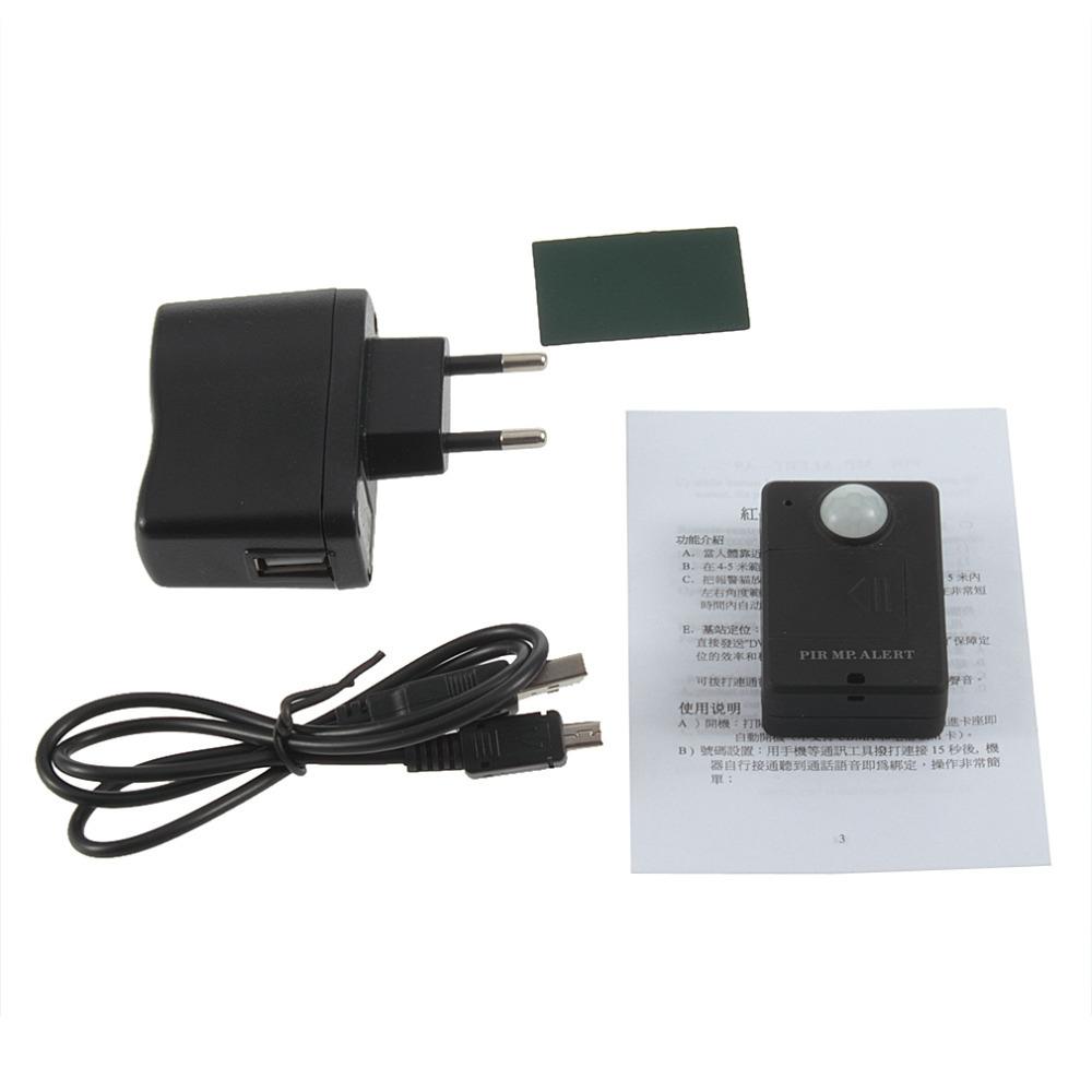 1 pcs Mini Infrared GSM alarm PIR MP Alert A9 EU Brand new(China (Mainland))