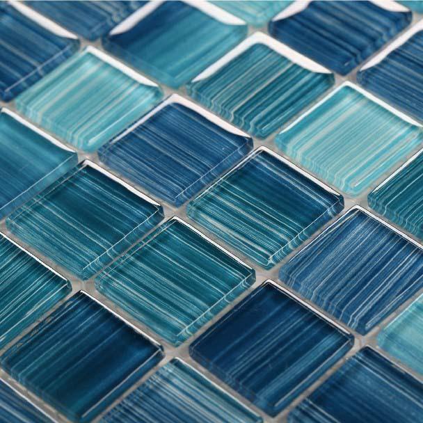 Glass mosaic ktchen backsplash tile bathroom wall floor for Installing glass tile with mesh back