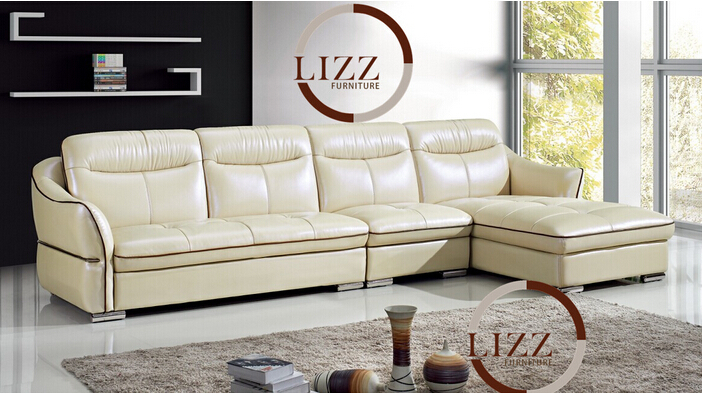Lizz Dubai Living Room Furniture Traditional Product Italian Genuine Leather Simple Sofa In