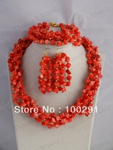 2016//! Fashion jewelry stone coral  necklace  necklace bracelet earrings 222(China (Mainland))