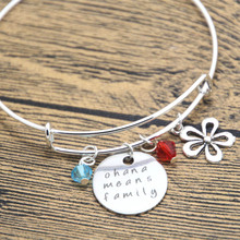Buy 12pcs Ohana Means Family bracelet Inspired Lilo & Stitch. Silver colored crystals women girls bangle for $17.99 in AliExpress store