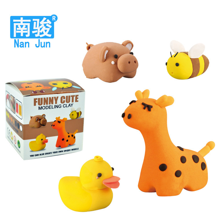 chinese Super light clay DIY quality sterile green color mud animated cartoon clay toys DIY(China (Mainland))