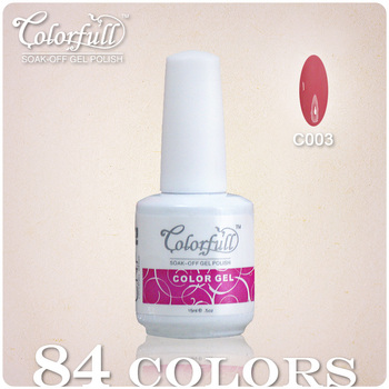 Free Shipping 2013 Lastest Edition 6x Nail Art Polish LED UV Gel 84 Colors Available 15ml 5oz Soak Off New Pink Package Lacquer