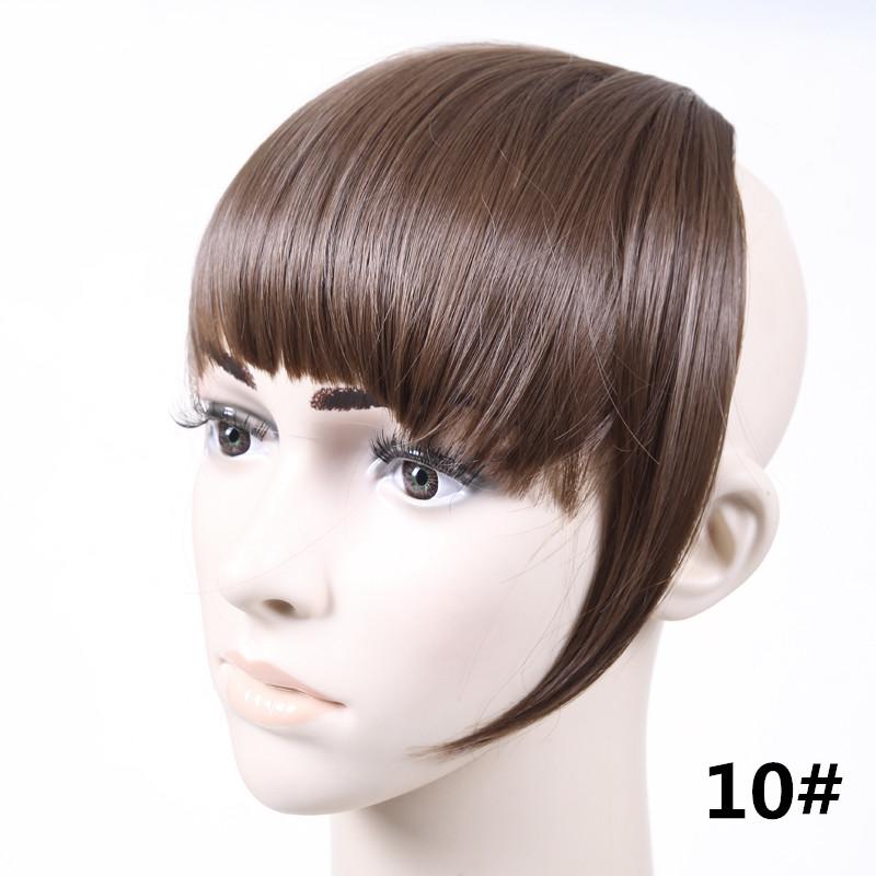 Jeedou короткий передний аккуратный челка клип короткая заколка для волос прямые 10#.1_