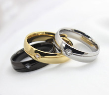 Fashion men and women wedding rings stainless steel ring o jewelry