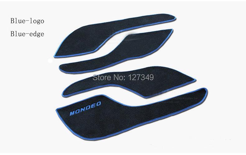 Car Door Protection Mat Anti kick Pad Decorative Ford Mondeo 2013 2014 2015 Styling