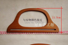 25 * 11.5cm  Hanger-shaped wooden handle  Wooden handles  Bag accessories  Wholesale(China (Mainland))