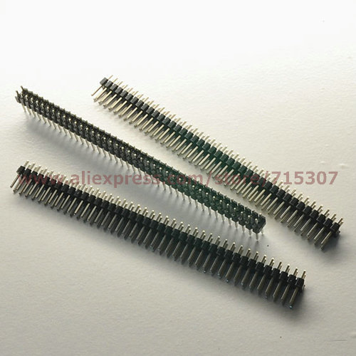 20pcs Double row male pin header 2x40 Pin 2.54mm board to board connectors copper pin(China (Mainland))