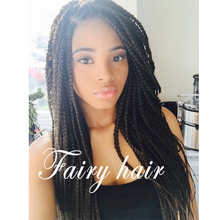 Handed Black Braided Wig