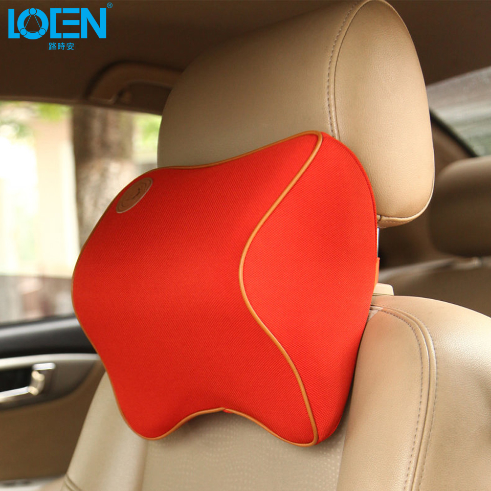 1 pcs car pillow space memory foam fabric neck headrest car covers vehicular pillow car. Black Bedroom Furniture Sets. Home Design Ideas