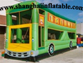 Hot sale Green Color 0 55mm PVC or canvas Multifunction Inflatable custom car Bounce House with