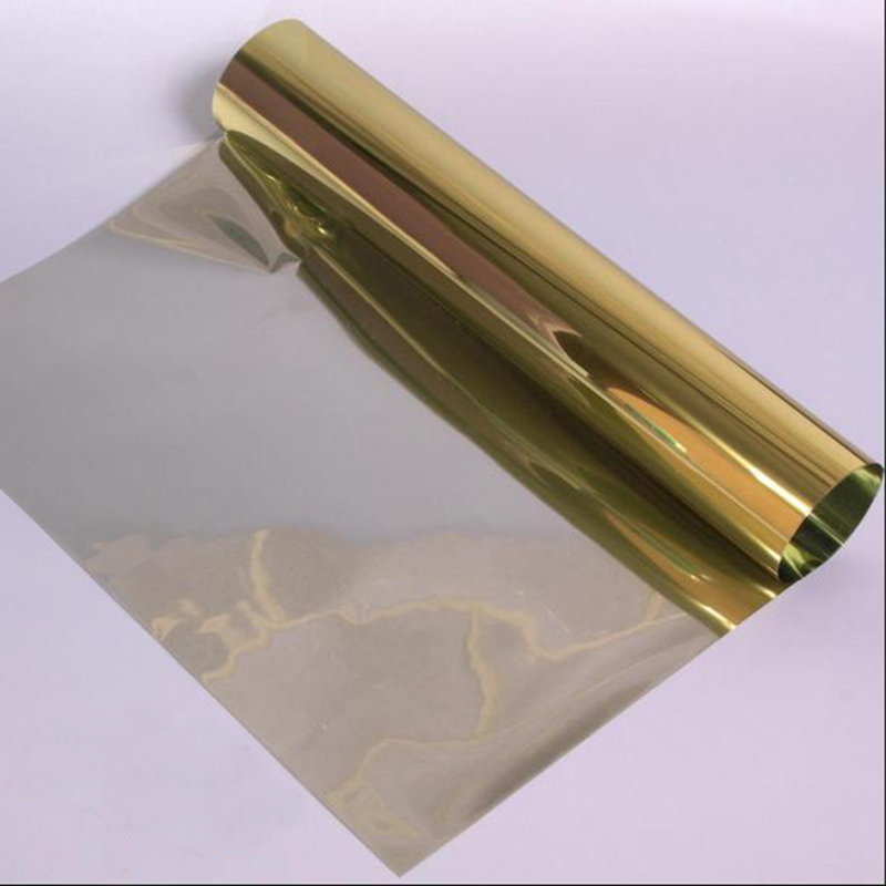 100x30cm One Way Reflective UV-proof Mirror Window Film Insulation Film Tint Self Adhesive Sticky Sticker Silver/Blue/Gold(China (Mainland))