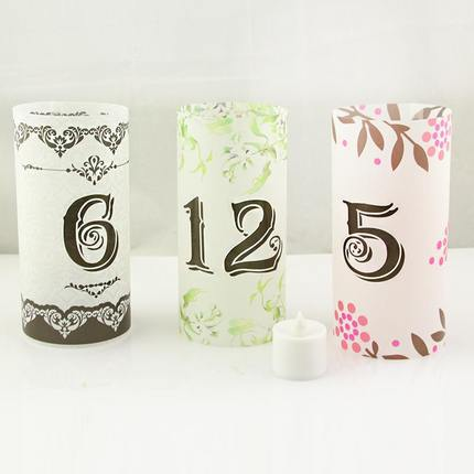 100pcs/Lot Free Shipping 0-9 Serial Number Labels Paper Sticker Wedding Birthday Party Table Numbers Clothing Number Stickers(China (Mainland))