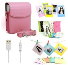 Fujifilm Instax Share Smartphone Printer Sp-1 Accessory set (pink Pu leather bag / Power Cable For SP-1/ 3 inch Photo Frames…