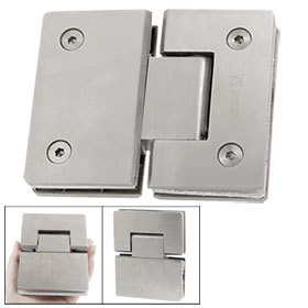 Stainless Steel Beveled Edge Shower Door Hinge for 8-12mm Thickness Glass Free shipping(China (Mainland))