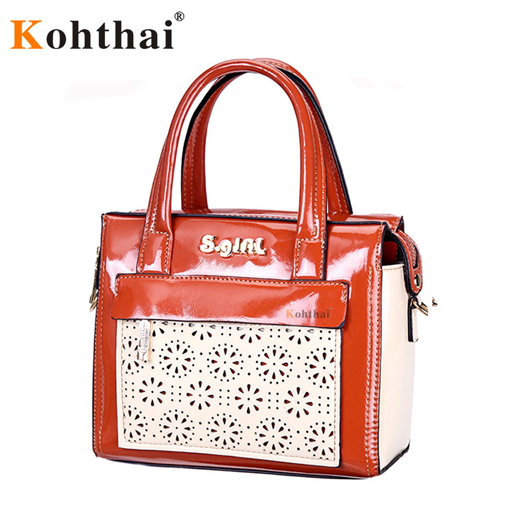 Kohthai Women Bag Women Messenger Bags Handbags Women Famous Brands Bolsa feminina Leather Bench Designer High Quality FB303(China (Mainland))