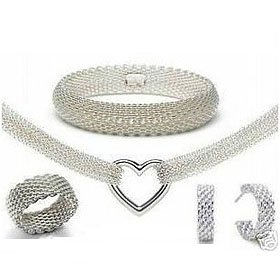EVYSTZ(26) Romantic style silver engagement jewelry sets women fashion jewellry gift hight quality - Evan Store store