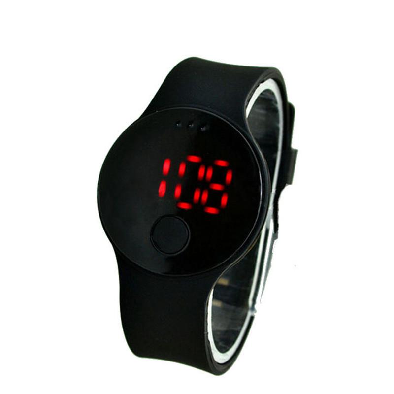 New Fashion Boy Mens Womens Circular Pattern Silicone LED Sport Wrist Watch Low Price<br><br>Aliexpress