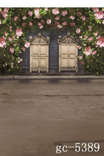 Flower Photography Backdrops Vintage Photography Background Wood Door And Dark Land Stand Backdrops For Photo Studio Fotografia