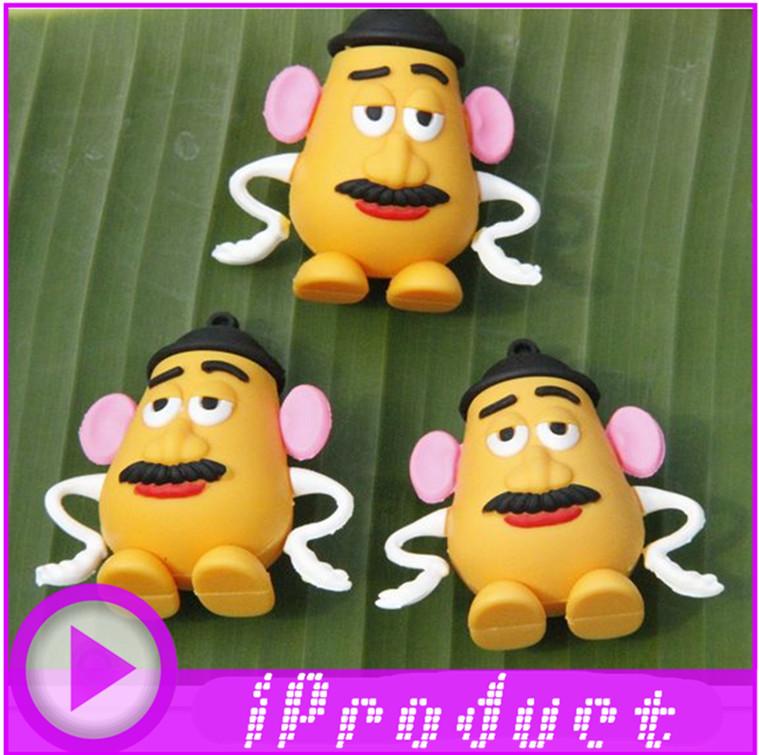 New USB Mr Potato Head USB Toy Story potato with hat potato face toy flash drive USB, pen drive/car/gift/disk,1~32G(China (Mainland))