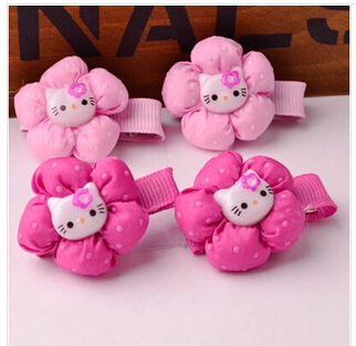 20pcs/lot Popular hello kitty hair bands hair clips for kids Nice hair accessories children Great girls hair decorations SPIN219(China (Mainland))