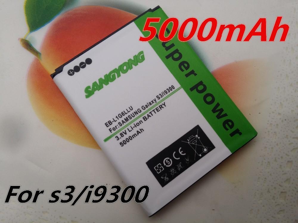 5000mAh EB-L1G6LLU Battery Batterie Batterij Bateria for Samsung Galaxy S3 SIII I9300/I747/L710/I9308/T999/I9305/M440S/i9082(China (Mainland))