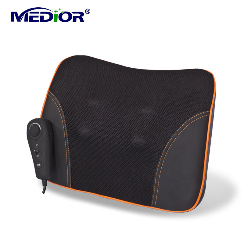 Shiatsu Massager Pillow with Heat for Kneading Neck Back Leg Full Body for Home and Car Usage for Health Care 80030(China (Mainland))